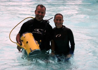 Diving with Celine Cousteau for IBM